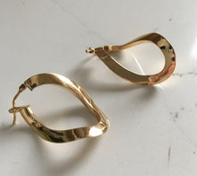 Load image into Gallery viewer, Gold Hoop Earrings - Yellow Gold Twist