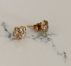 Bella Gold Stud Earrings