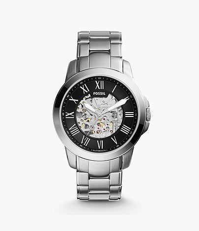 Grant Automatic Dark Stainless Steel Watch