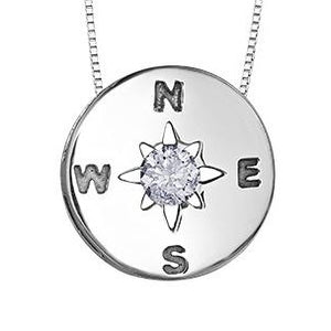 Compass Diamond Pendant