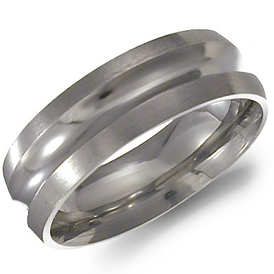 Men's Wedding Band - Titanium