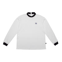 Pre order Criss Cross Polo-Turtle Shirt White / Black