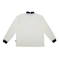 Pre order Criss Cross Polo-Turtle Shirt Off-White / Navy