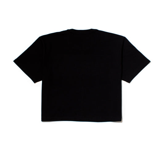 Slang One Line Cropped SS T Black
