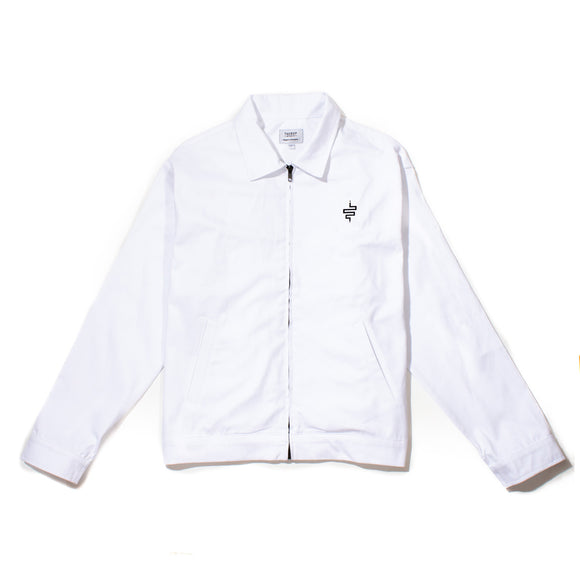 Pre-Sale Slang Gas Station Jacket White