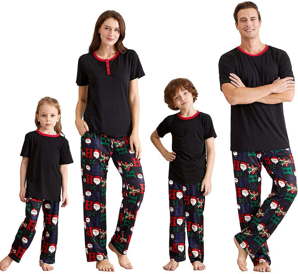 NEW Christmas Black Santa Claus Family Matching Pajamas