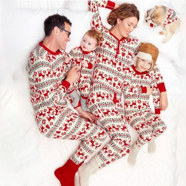 NEW Deer & Snowflake Christmas Family Matching Pajamas