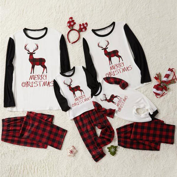 NEW Plaid Deer Christmas Family Matching Pajamas