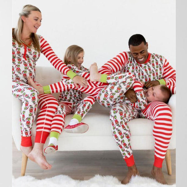 NEW Christmas Red Stripe Floral Family Matching Pajamas
