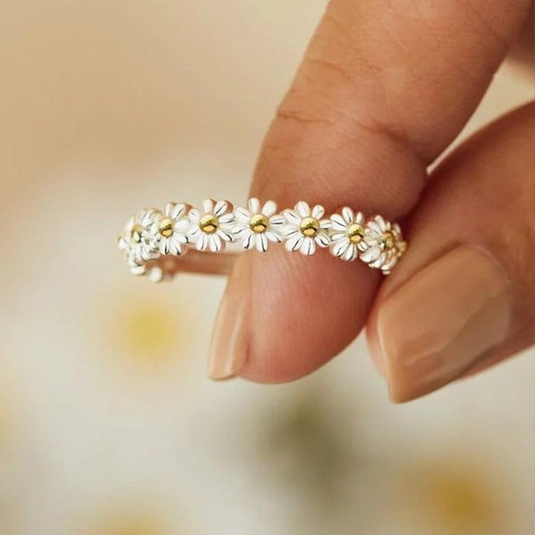 Sank®Adjustable Daisy Ring