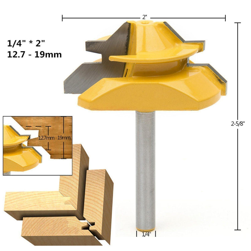 Domom 45 Degree Lock Miter Router Bits