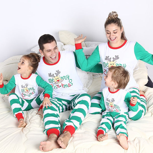 NEW Deer Christmas Family Matching Pajamas