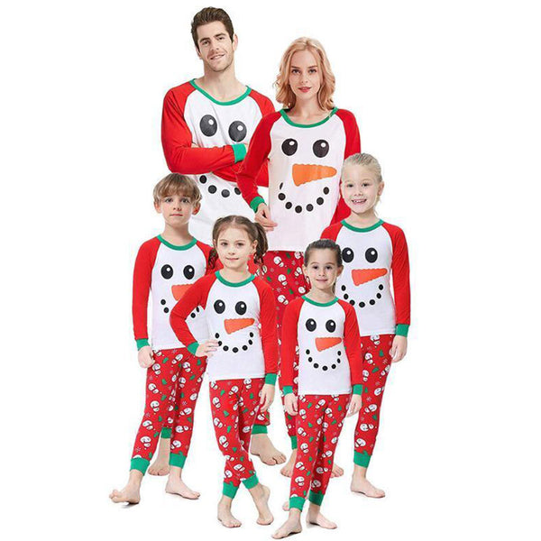 NEW Christmas Cute Snowman Family Matching Pajamas