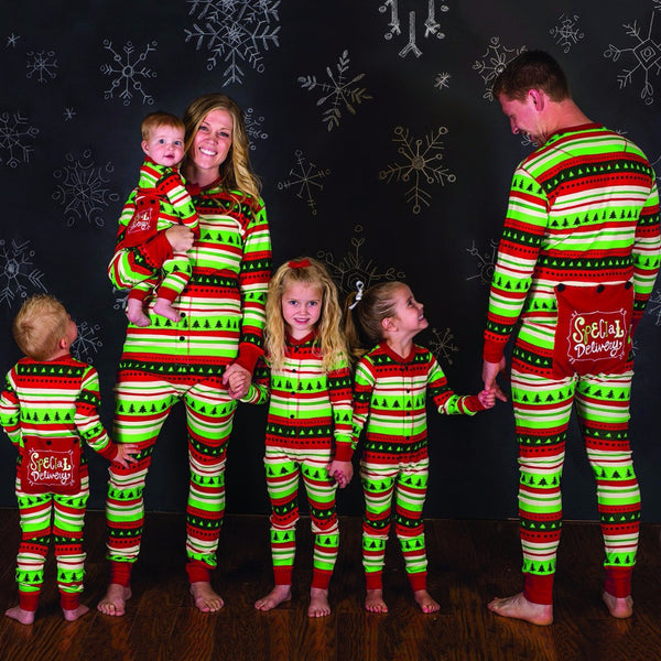 "NEW Christmas Tree ""Special Delivery"" Family Matching Pajamas"