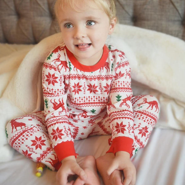 NEW Christmas Red Reindeer Family Matching Pajamas