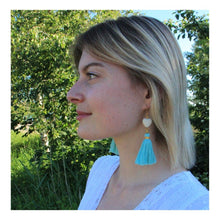 """Load the picture into the gallery viewer, tassel earring """"Stone"""""""