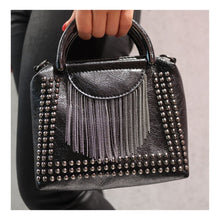 """Load the picture into the gallery viewer, studded bag """"New York"""""""