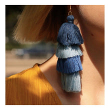 """Upload the picture to the gallery viewer, tassel earring """"Statement"""""""
