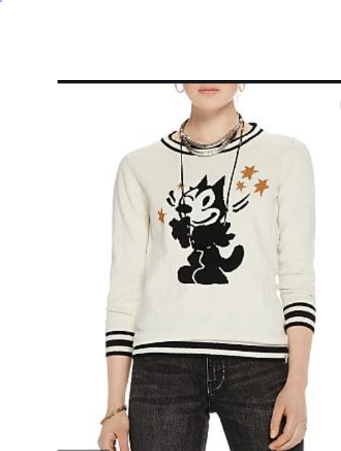 SCOTCH AND SODA  Felix the Cat sweater