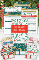 Christmas budget planner printable and holiday cash envelopes bundle