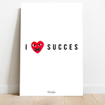 Afbeelding in Gallery-weergave laden, Motivatie Canvas - I Love Succes - Designer