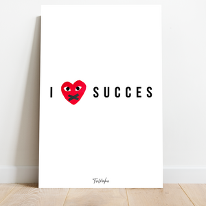 Motivatie Canvas - I Love Succes - Designer