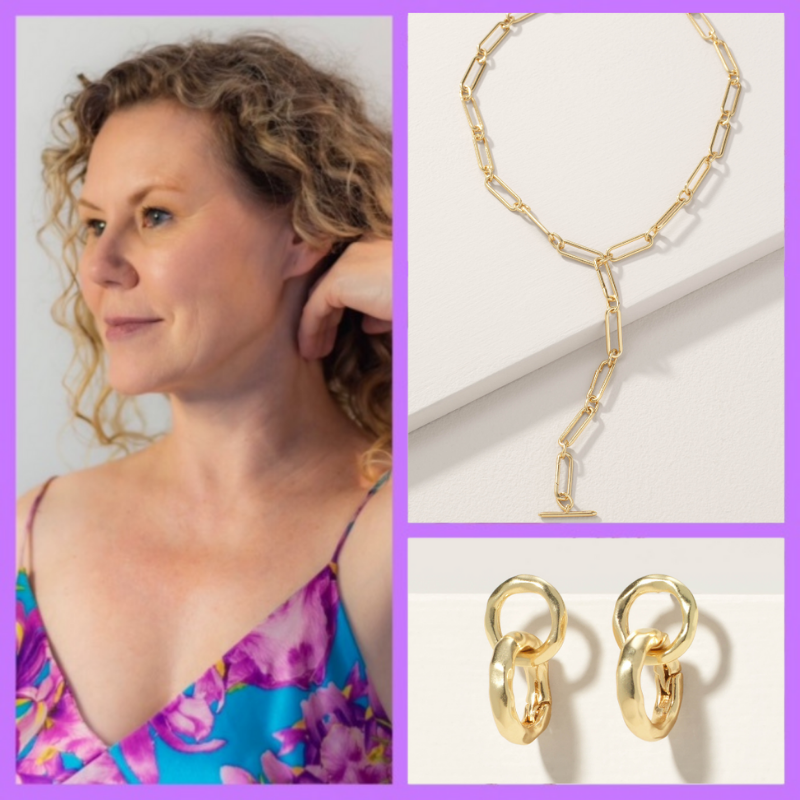 Gold Jewelry to style and wear with a silk slip dress