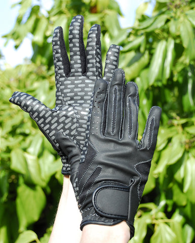Rhinegold Silicone Grip Riding Gloves