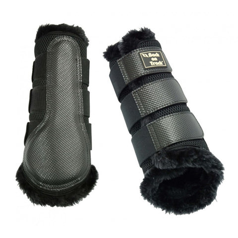 Back on Track 3D Mesh Brushing Boot with Faux Fur