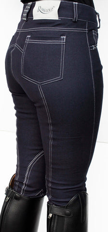 Rhinegold Crystal Trim Denim Jodhpurs