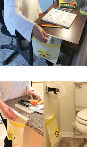 multipurpose stick on trash bag for office kitchen bathroom