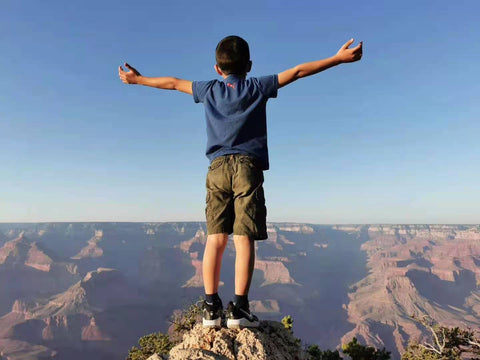 Standing on top of Grand Canyon