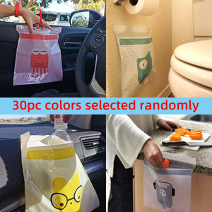 EASY STICK-ON DISPOSABLE TRASH BAG FOR CAR OFFICE KITCHEN BATHROOM