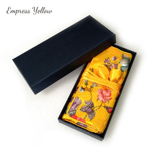 Empress Yellow Jewelry Roll Bag