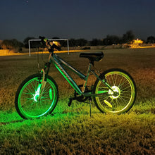 Load image into Gallery viewer, Bike Wheel Lights Green Yellow