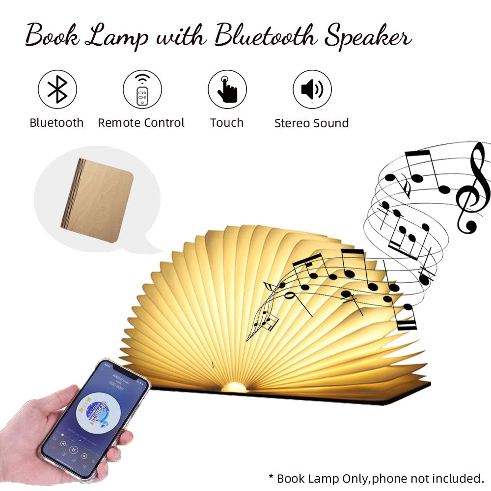 LED Book Lamp with Bluetooth Speakers