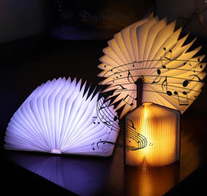 Novelty book lamp with various opening angles
