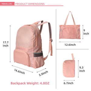 foldable backpack dimensions