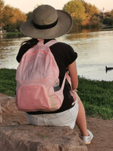 Load image into Gallery viewer, girl wearing pink backpack