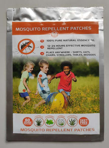 Mosquito Repellent Stickers/Patches (60pc) Made with Natural Plant Based Essential Oil -Deet Free