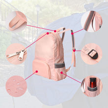 Load image into Gallery viewer, pink backpack details