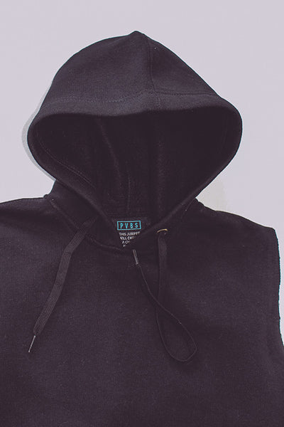 BLACK SHORT SLEEVE HOODY