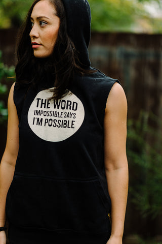 The Word IMPOSSIBLE Says I'M POSSIBLE - BLACK