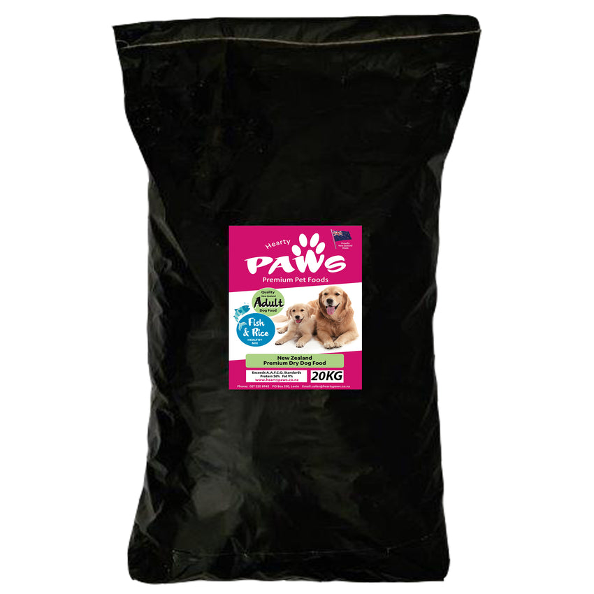 NZ Premium Dry Dog Food - 20kg Fish Adult