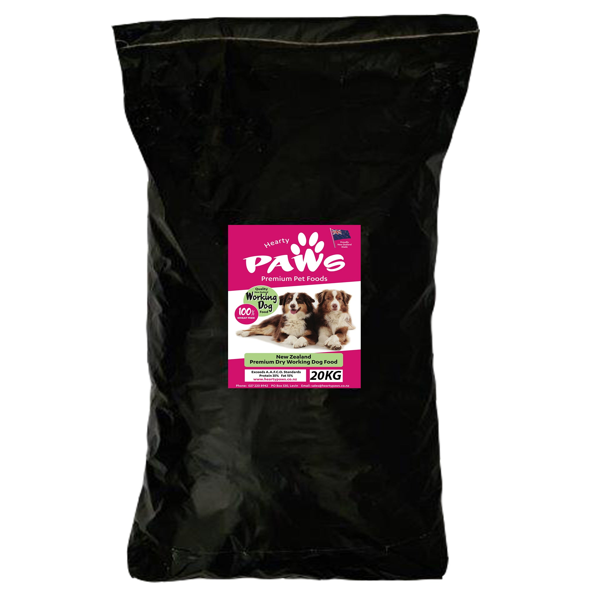 NZ Premium Dry Dog Food - 20kg Beef Working Dog