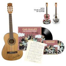 Load image into Gallery viewer, Signed Guitar + Signed Vinyl + CD + Handwritten Lyric Sheet + Digital Download