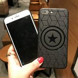 Marvel Avengers Captain America Shield Superhero Phone Case for iPhone 11 pro 8 7 6 6S Plus X Xs Max Xr