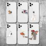 Tom And Jerry iPhone x XS 11Pro Max XR lindo gato Tom funda para iPhone 8 7 6 6S Plus 5S SE silicona Phone Cover Case