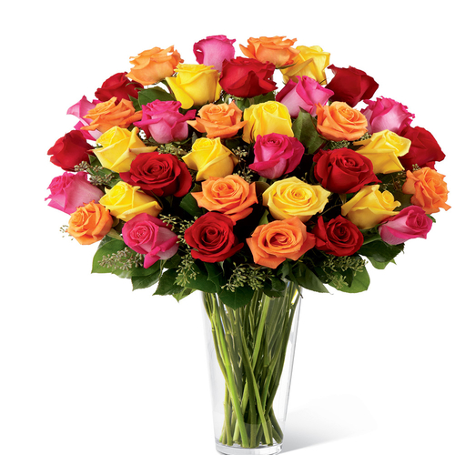 24 Bright Spark Roses Bouquet