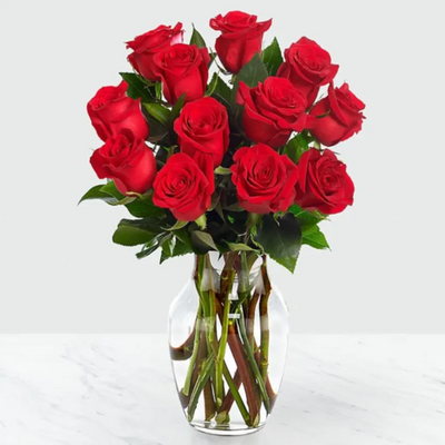 18 Red Roses Arranged